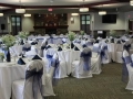 Wedding Blue and White Room Set up